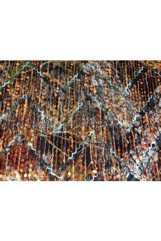 Mossy Oak New Breakup Satin with Orange Dangle Sequins