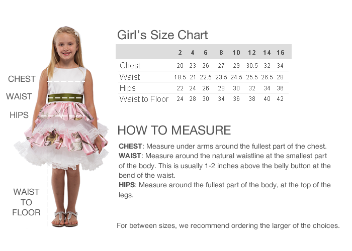 GIRL SIZE CHART. For clothing sizes (BeForever™, Truly Me™, and Girl of the Year®) Waist is measured at natural point (ask girl to bend to one side to find natural crease of her waist; measure around this point). Arm length is measured from the prominent bone at the top of the shoulder, over bent elbow, to the wrist bone.